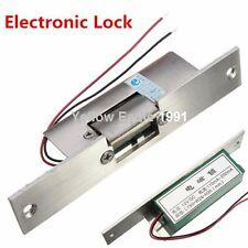 NO Narrow-type Door Electric Strike Lock Access Control DC12V Fail Safe Security