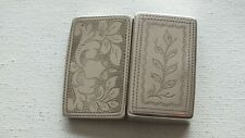 Solid Silver Snuff Box (hinged) Fully Hallmarked Flora Design to Front & Back
