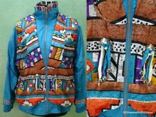 VTG 80's aztec indian blanket concho western dress jacket coat nylon P/S