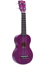 Mahalo Kahiko Plus Soprano Ukulele with Aquila Strings and Bag - Trans. Purple