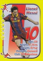 Football card LIONEL MESSI Argentina FC Barcelona FC STARS edition 2010 soccer
