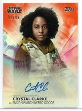 CRYSTAL CLARKE as Pamich / Women of Star Wars ORANGE Autograph Card A-CC 41/99
