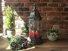French Antique Vintage Pillar Candle Holder Hurricane Lantern Extra Large 61cm