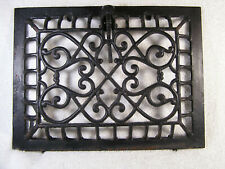 Atq CAST IRON HEATING GRATE WALL REGISTER LOUVERS   12 by 9 approx.