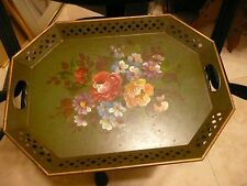 Nashco Products New York Hand Painted Vintage Tray with Handles