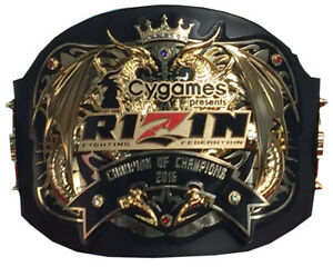 rizin mma and wrestling champion ship belt adult size 4mm with free shipping