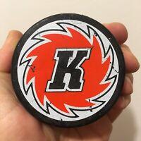 Vintage Fort Wayne Komets Two-Sided Ice Hockey Logo Puck ECHL Indiana GTE