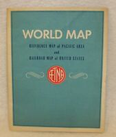 Vintage Rand McNally Pacific Area & United States Railroad Map