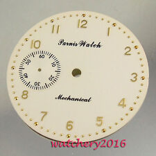 Vogue 38.9mm Parnis Beige Watch dial fit 6497 Seagull St36 movement men's Watch