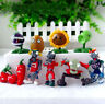 10 Plants vs Zombies Action Figures Set Bungee Play Toy Kid Cake Topper Decor