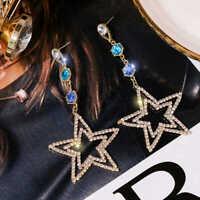 Fashion Women Crystal Rhinestone Star Dangle Earring Tassel Earrings Jewelry HOT