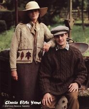 Classic Elite Yarns Knitting Pattern #613 - English Gardeners - Men, Women