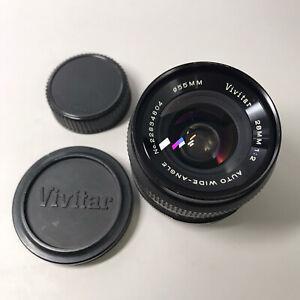Vivitar 28mm f/2 Auto Wide-Angle MF Lens Minolta MD Mount - Amazing Lens Flares