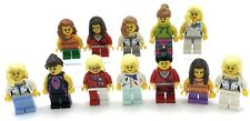 LEGO 12 NEW ASSORTED COLORFUL WOMEN AND GIRLS MINIFIGURES FIGURES