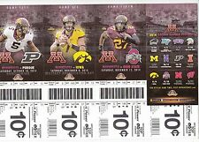 2014 Minnesota Golden Gophers Football Season Ticket Stub Strip Sheet Ohio State