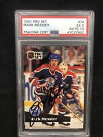 PSA 5 Auto 10 - 1991 Pro Set - Mark Messier- PSA/DNA - Free-Ship OBO