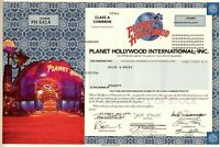 Planet Hollywood International Inc., 1999 (1 Share) Schwarzenegger,Stallone,W.