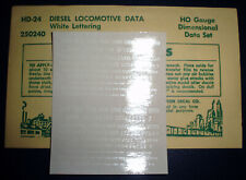 CHAMP, DIESEL LOCOMOTIVE DATA, HO SCALE DECALS, HD-24