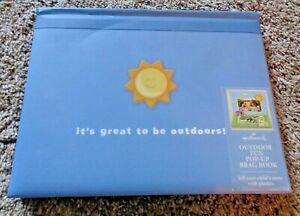 Hallmark Outdoor Fun Pop-Up Brag Book - Photo Album - Blue - Free shipping