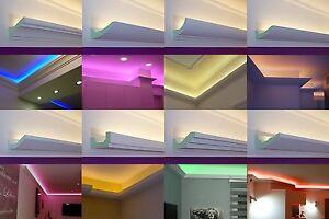 MUSTER-SET LED Stuckleisten Lichtvouten indirekte Beleuchtung Hartschaum | BENDU