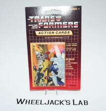 Mirage Prowl Sealed Pack Card #143 Transformers Trading Action Cards 1985 G1
