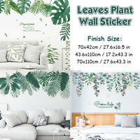 Tropical Foliage Leaves Plant Wall Sticker Decal Nursery Home Art Mural Vinyl