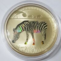2011 25g PROOF Silver 1000 Francs LE ZEBRE Protection De La Vie Sauvage Coin.