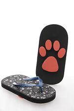 Gr. 38-41 Katze Cat Neko Flip-Flops Sohle Katzenpfoten Abdruck Sandale Strand