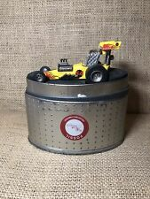 Fossil Limited Edition Flame Hot rod Dragster Timepiece Miniature Car Desk Clock