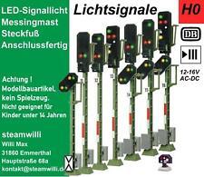 H0 Lichtsignale mit LED-Signallicht, anschlussfertig, neu