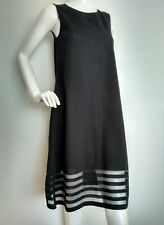 COS black jersey dress size XS --BRAND NEW-- loose fit knee length burn-out deta