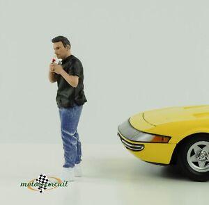 Figur Car meet 1 Autotreffen cool Boy mit Zippo 1:18 American Diorama no car VI