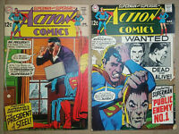 Action Comics #371 and #374-Silver Age-Supergirl-Flash vs Superman-Neal Adams