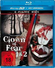 CLOWN of FEAR 1&2 3D blu ray - 2 Film Set  ( Includes 2D version ) ( NEW )