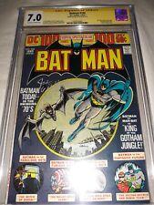 BATMAN #254 CGC SS 7.0 ( FN / VF ) 1974 - Signed Joe Giella - Man Bat Appearance