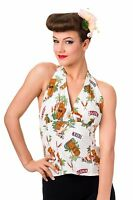 Banned Apparel Halterneck Retro Dreamer Tiki Aloha Women Top Vest