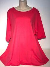 Salon Studio, Lightweight,  Pink 3/4 Sleeve Pullover Blouse, size 4X