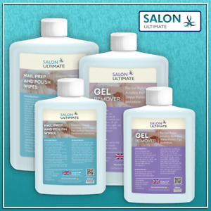 Salon Ultimate Nail Polish Prep + And Wipe & Gel Remover UV LED Manicure