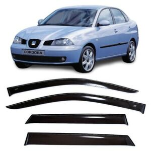 For Seat Cordoba Sd 2003-2009 Side Window Visors Sun Rain Guard Vent Deflectors