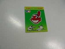 1990 Fleer Baseball Logo Stickers Cleveland Indians Baseball Quiz on back
