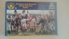 1/72 scale Italeri models Austrian and Russian  Napoleonic Allied General staff