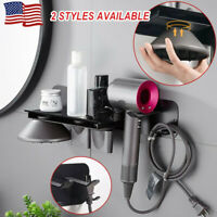 Hair Dryer Wall Mount Holder Storage Rack Bathroom Shelf for Dyson Supersonic US