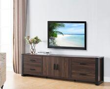 151355 Smart Home Dark Walnut & Black Edition TV Stands (70 Inch, Dark Walnut)