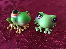 Littlest Pet Shop LPS Frog Couple #50 And #848 Cute!