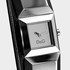 DOLCE&GABBANA Uhr Armbanduhr D&G Markenuhr DANCE Damen Leder Silber DW0272