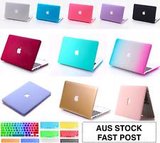 "Apple Logo CutOut Hard Case +Keyboard+Screen Cover MacBook Air Pro 13 Inch 11"""