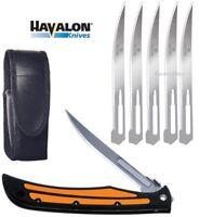 Havalon Knives Baracuta Edge Folding Pocket Knife Orange + Blades SHARP 127EDGE