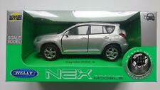 WELLY TOYOTA RAV 4 SILVER 1:34 DIE CAST METAL MODEL NEW IN BOX