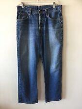 Abercrombie & Fitch 5 Pocket Button Fly Indigo Jeans Men's Size 30 R Actual 32