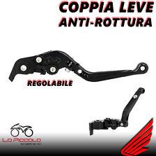 COPPIA LEVE ANTI-ROTTURA CNC REGOLABILI NERE HONDA CBR 600 FS FT 1995 1996